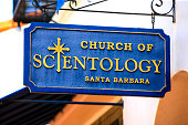 Church of Scientology sign in Santa Barbara