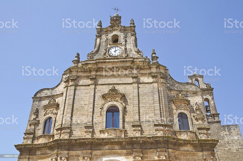 Church of Spirito Santo. Francavilla Fontana. Puglia. Italy. royalty-free stock photo