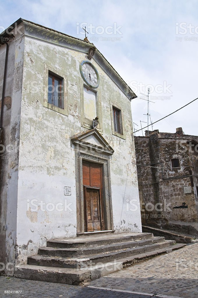 Church of SS nome di Ges?. Calcata. Lazio. Italy. stock photo