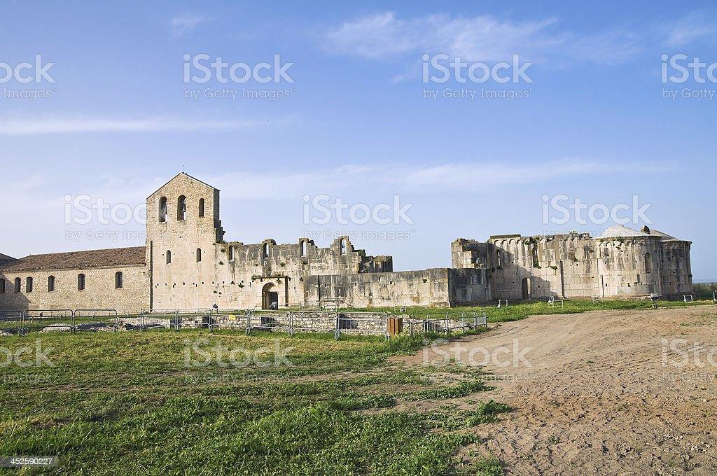 Church of SS. Trinità. Venosa. Basilicata. Italy. stock photo