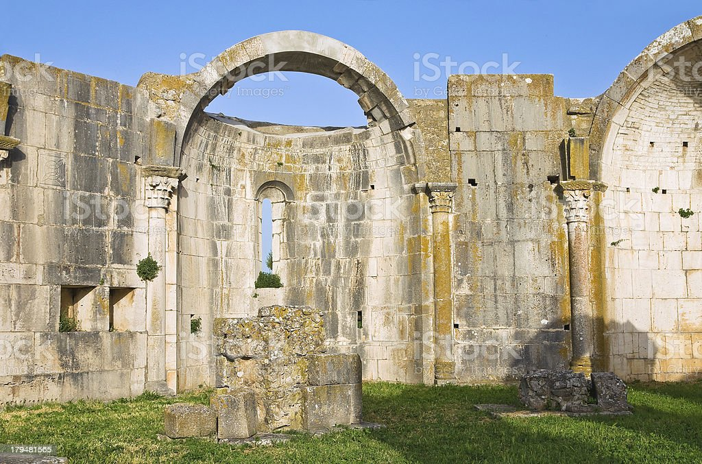 Church of SS. Trinity. Venosa. Basilicata. Italy. royalty-free stock photo