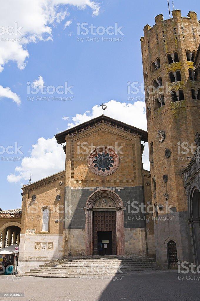 Church of St. Andrea. Orvieto. Umbria. Italy. stock photo