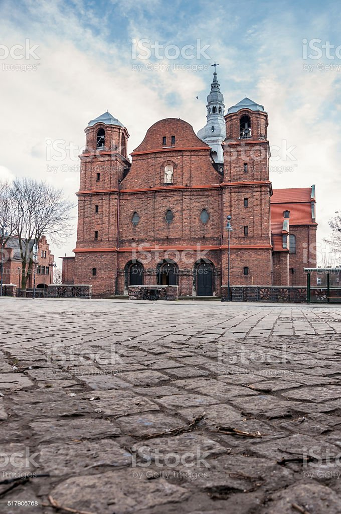 Church of St. Anne in Nikiszowiec district, Katowice, Poland stock photo
