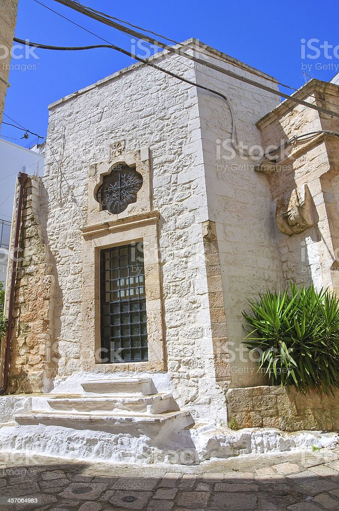 Church of St. Antonio abate. Ceglie Messapica. Puglia. Italy. stock photo