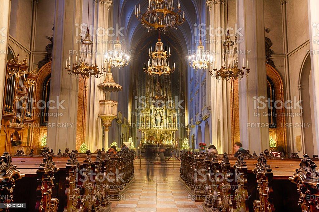 Church of St. Augustine in Vienna stock photo