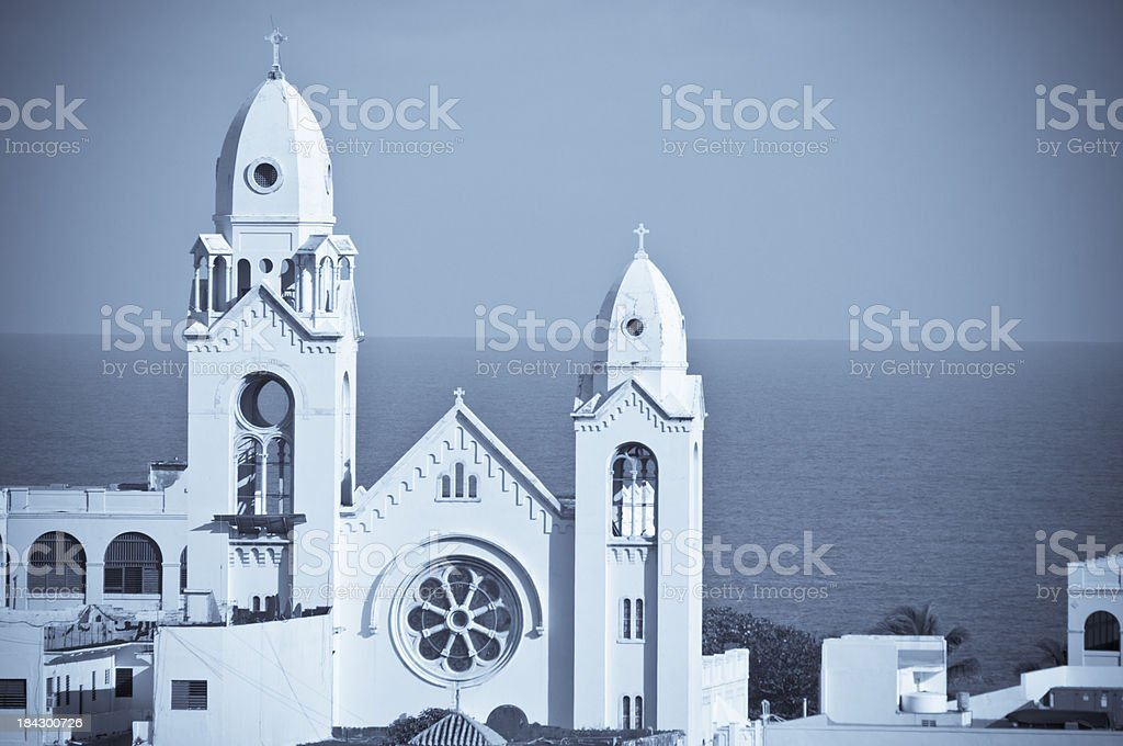 Church of St. Augustine stock photo