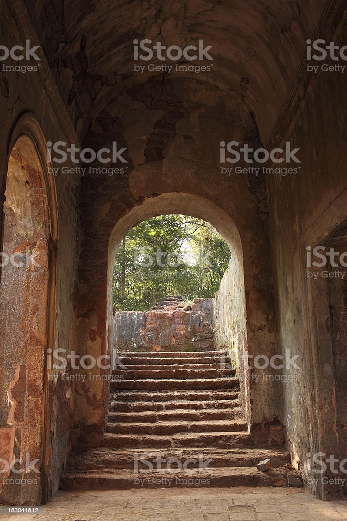 Church of St Augustine Ruins in Goa royalty-free stock photo