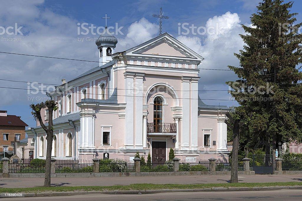 Church of St. Barbara in Berdychiv, Ukraine stock photo