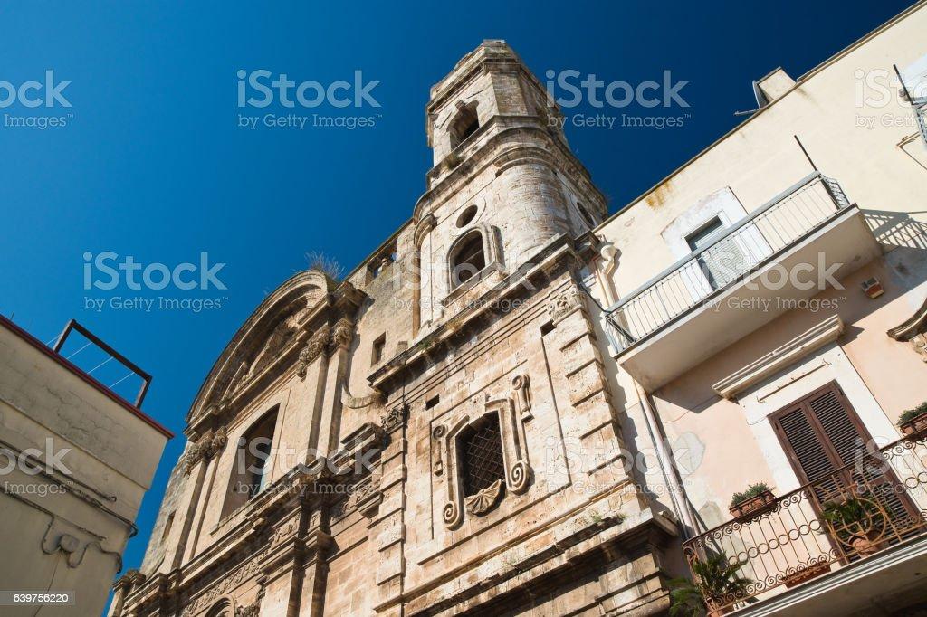 Church of St. Benedetto. Acquaviva delle fonti. Puglia. Italy. stock photo