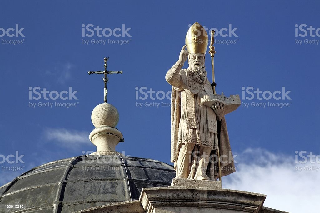 Church of St Blaise in Dubrovnik, Croatia stock photo