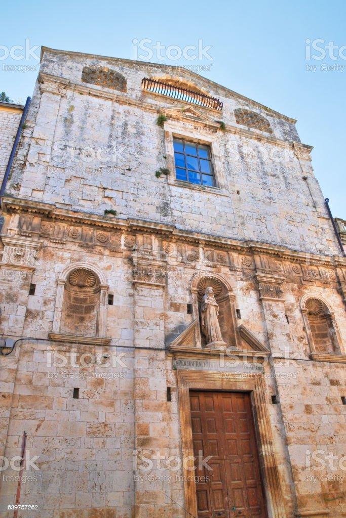 Church of St. Chiara. Acquaviva delle fonti. Puglia. Italy. stock photo