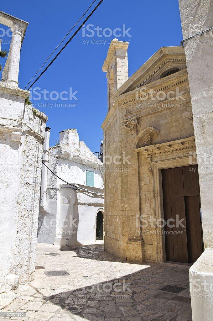 Church of St. Demetrio. Ceglie Messapica. Puglia. Italy. stock photo