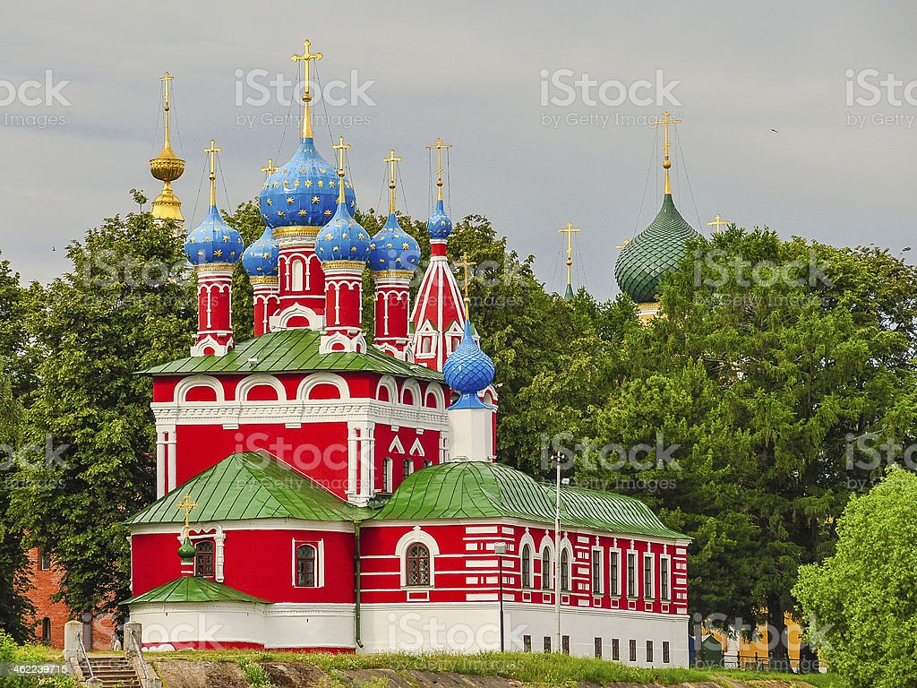 Church of St. Demetrius on the Spilled Blood - Russia stock photo