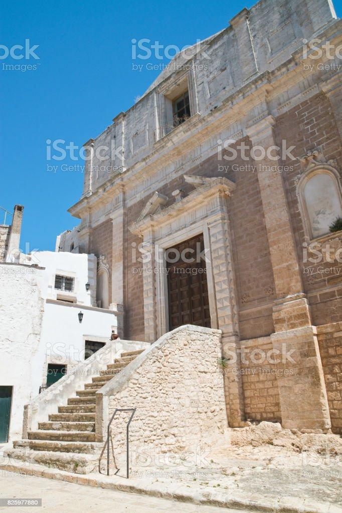 Church of St. Domenico. Ceglie Messapica. Puglia. Italy. stock photo