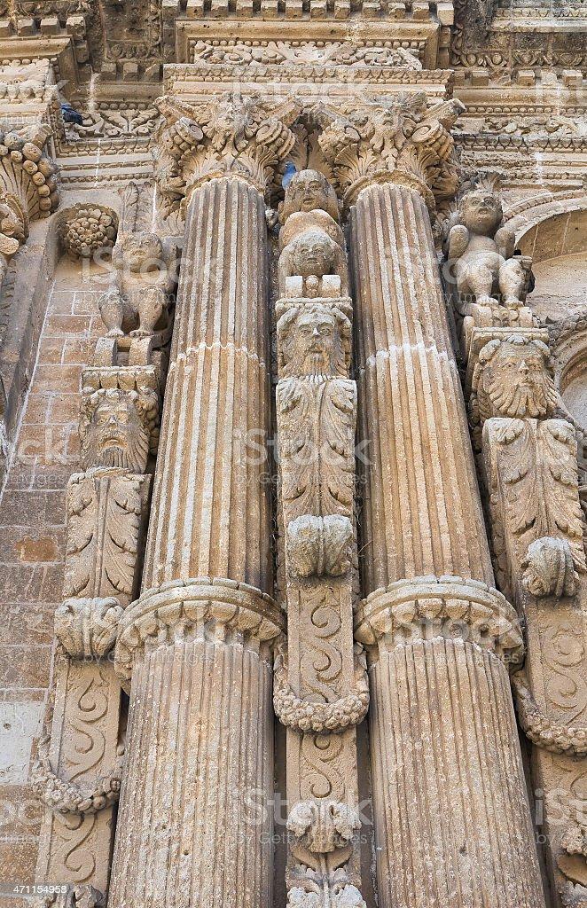 Church of St. Domenico. Nardò. Puglia. Italy. stock photo