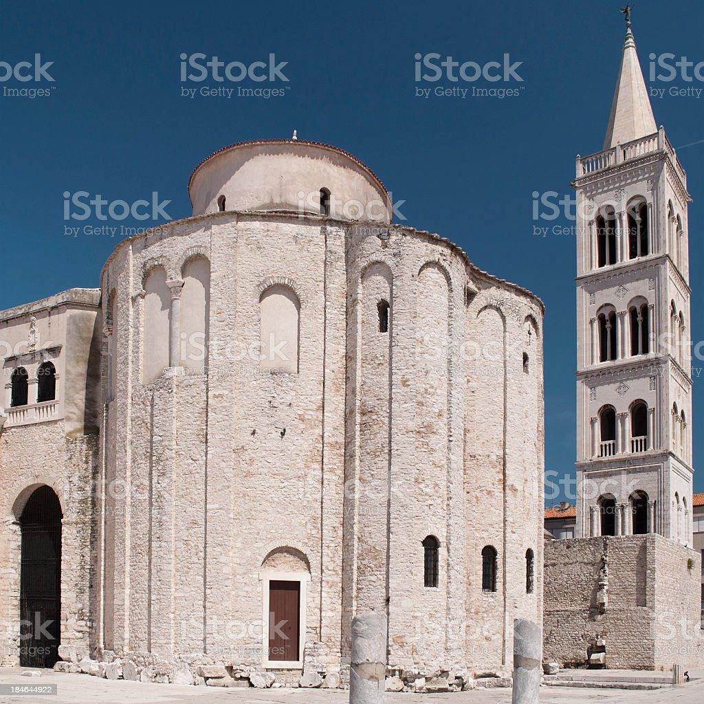 Church of St. Donat, Zadar, Croatia stock photo