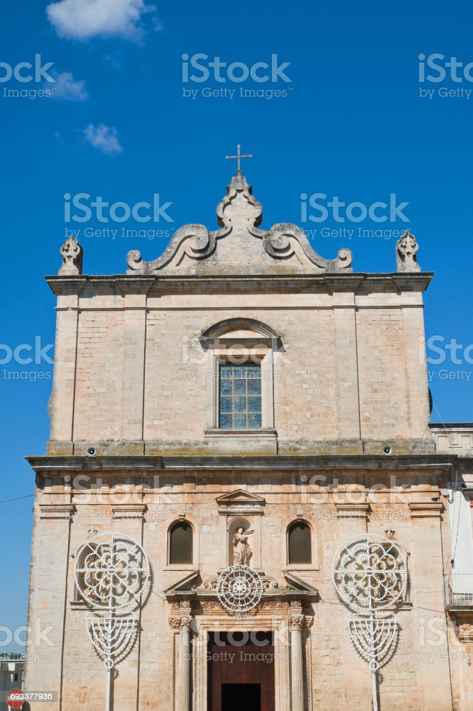 Church of St. Francesco. Martina Franca. Puglia. Italy. stock photo