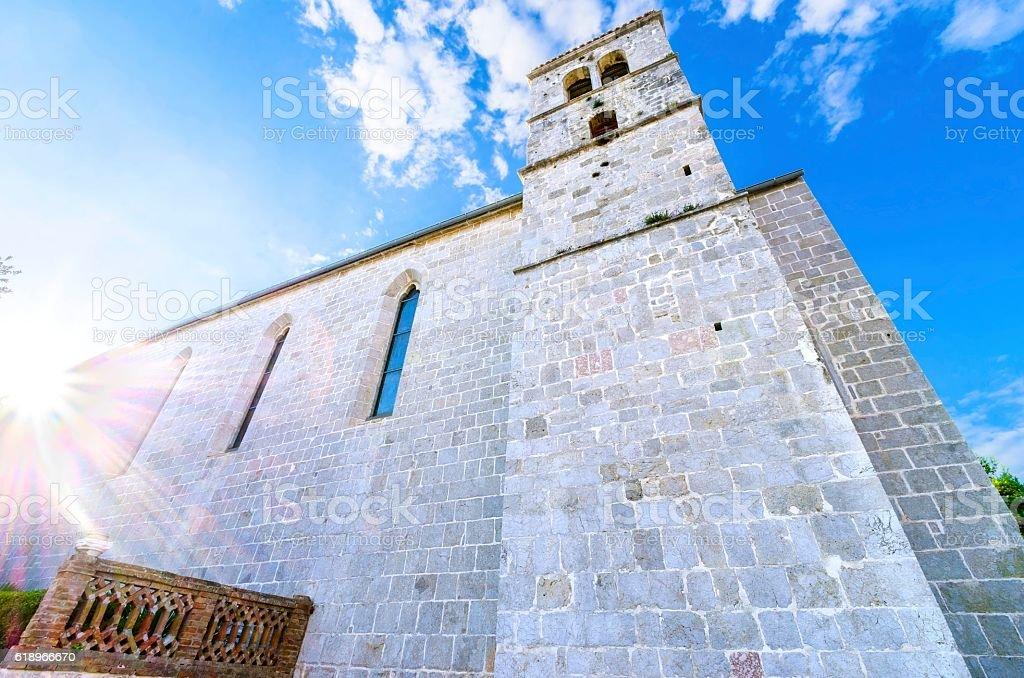 Church of St Francis, Krk, Croatia stock photo