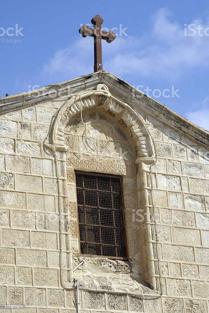 Church of St. Gabriel Detail Nazareth Israel royalty-free stock photo
