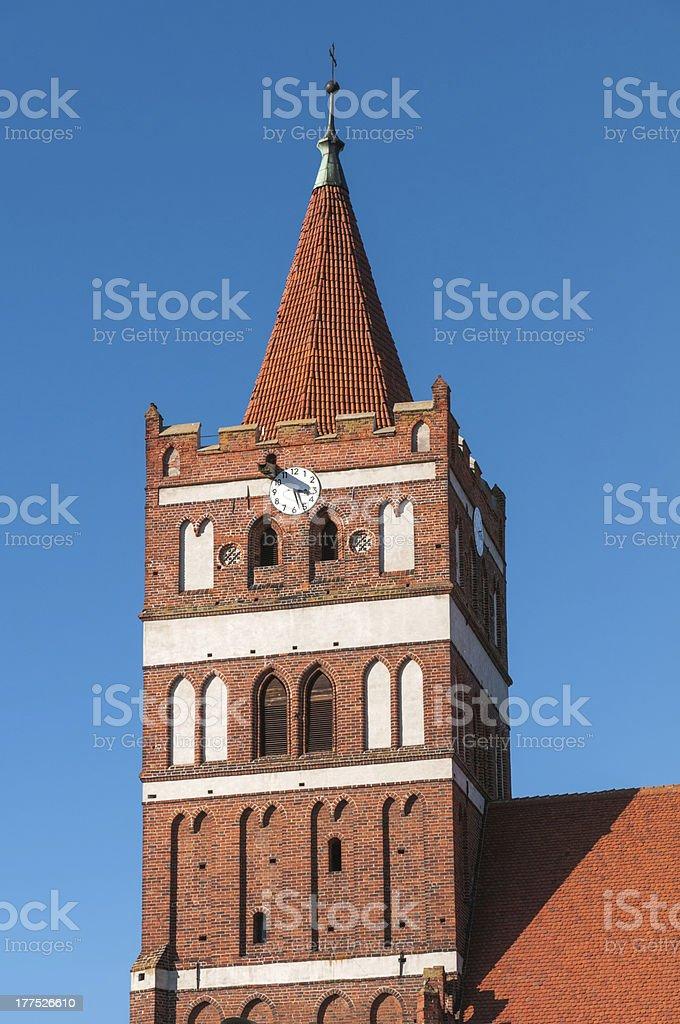 Church of St. George in Pravdinsk (earlier Friedland). Kaliningr royalty-free stock photo
