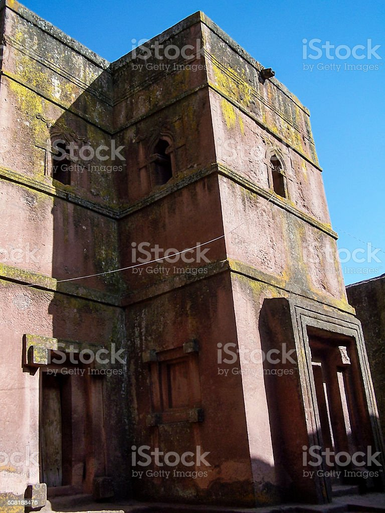 Church of St George Lalibela stock photo