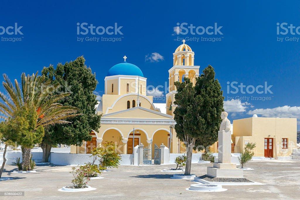 Church of St. George. Santorini stock photo