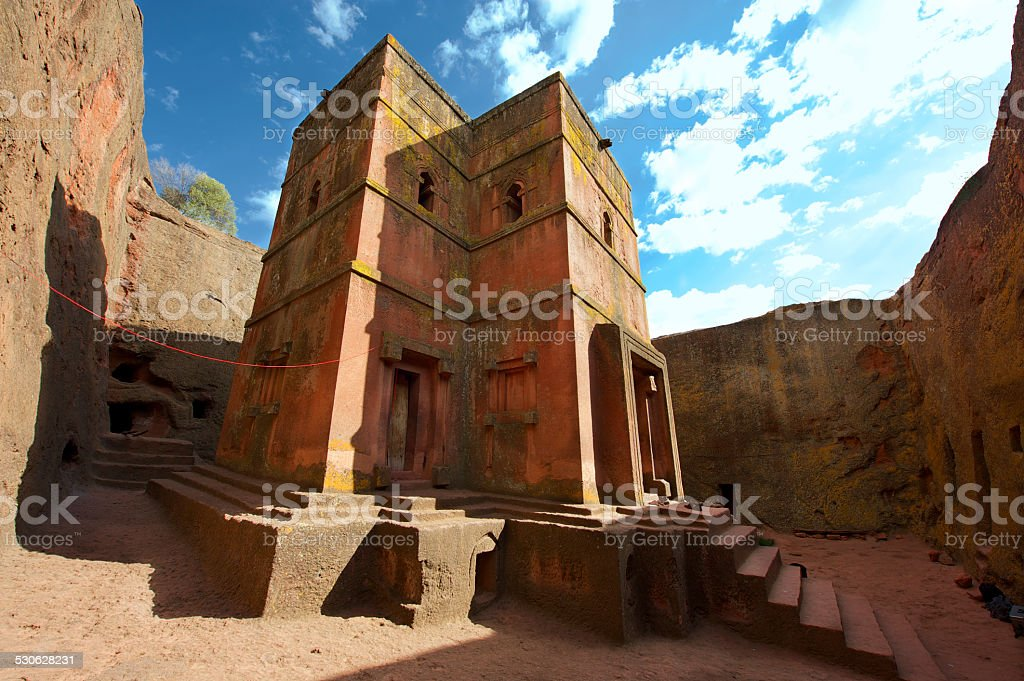 Church of St. George, UNESCO World heritage, Lalibela, Ethiopia. stock photo