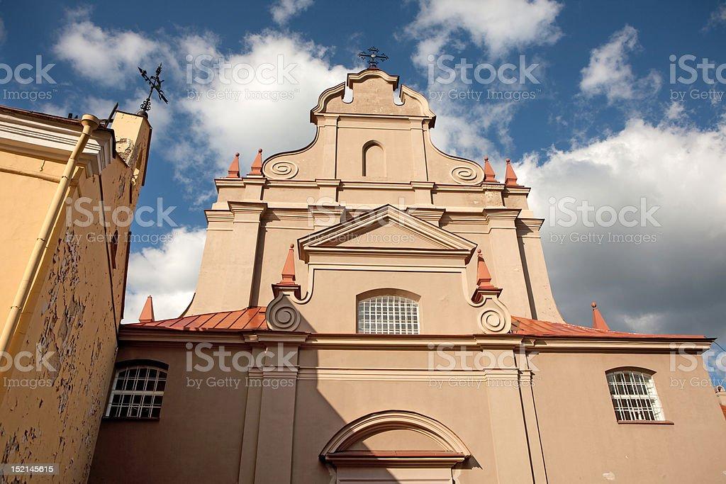 Church of St. Ignatius. Vilnius, Lithuania stock photo