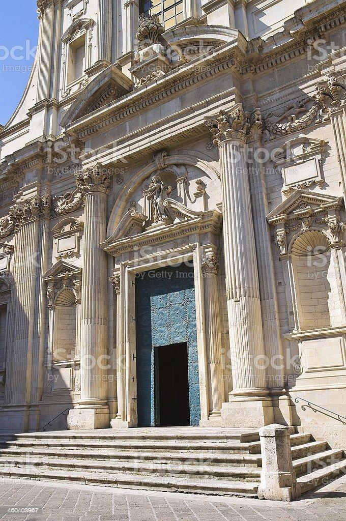 Church of St. Irene. Lecce. Puglia. Italy. royalty-free stock photo