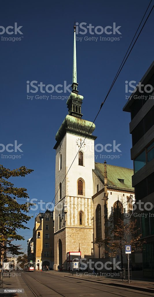 Church of St. James in Brno. Czech republic stock photo