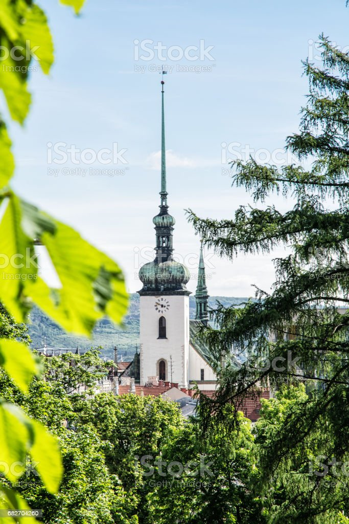 Church of St. James in Brno, Czech republic stock photo