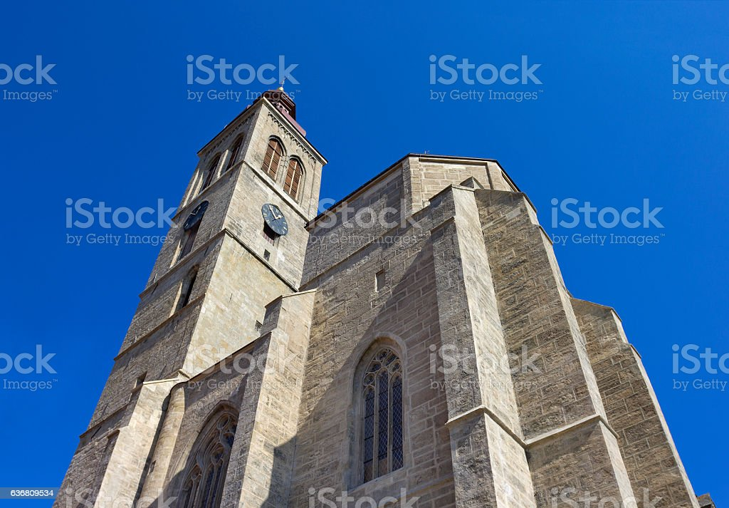 Church of St. James in Kutna Hora, Czech Republic stock photo