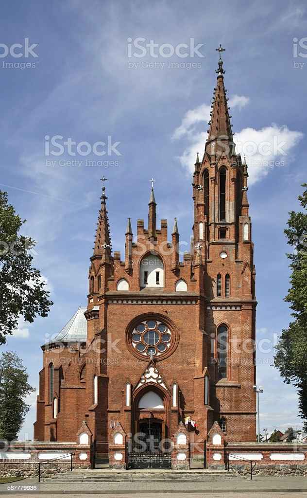 Church of St. James in Sztabin. Poland stock photo