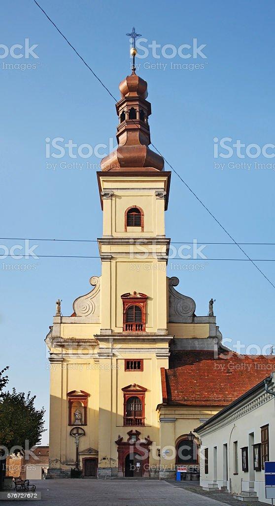 Church of St. James in Trnava. Slovakia stock photo