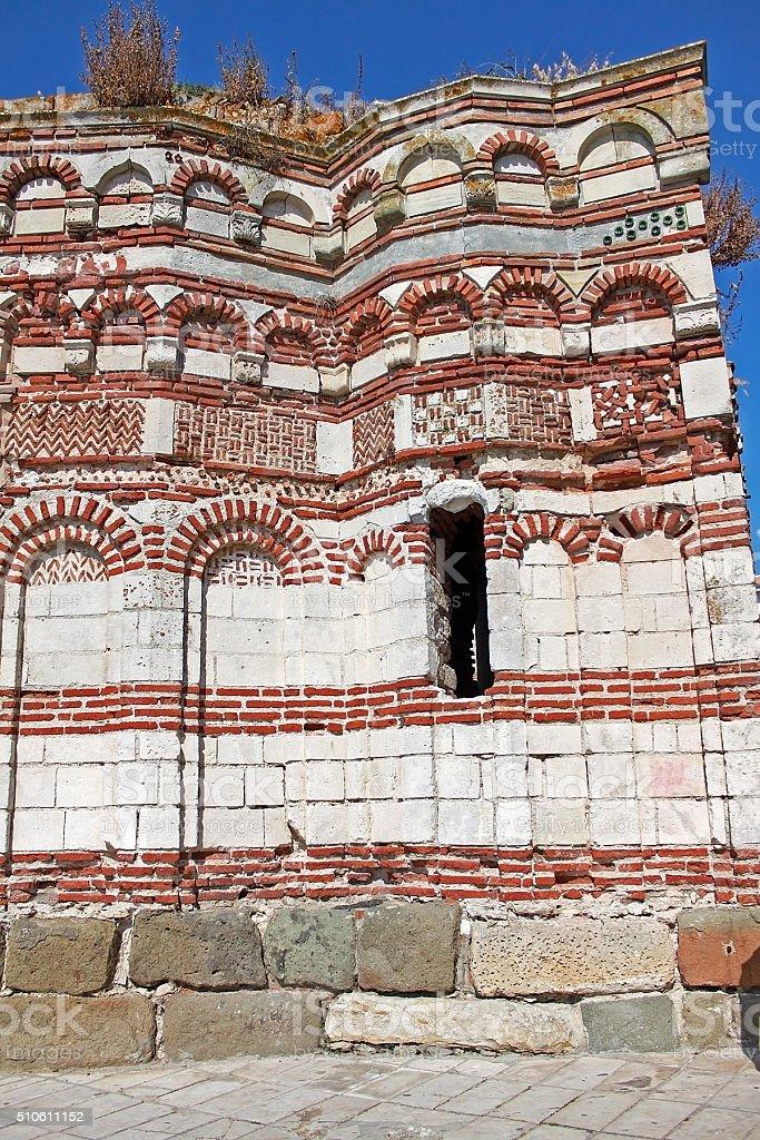 Church of St John Aliturgetos. Nesebar, Bulgaria. stock photo