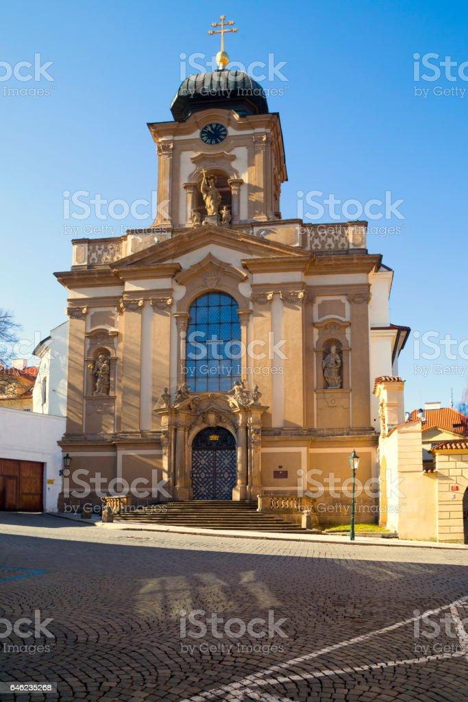Church of St. John of Nepomuk in Prague stock photo