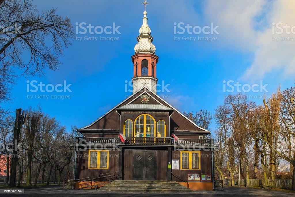 Church of St. Joseph in Lodz, Poland stock photo