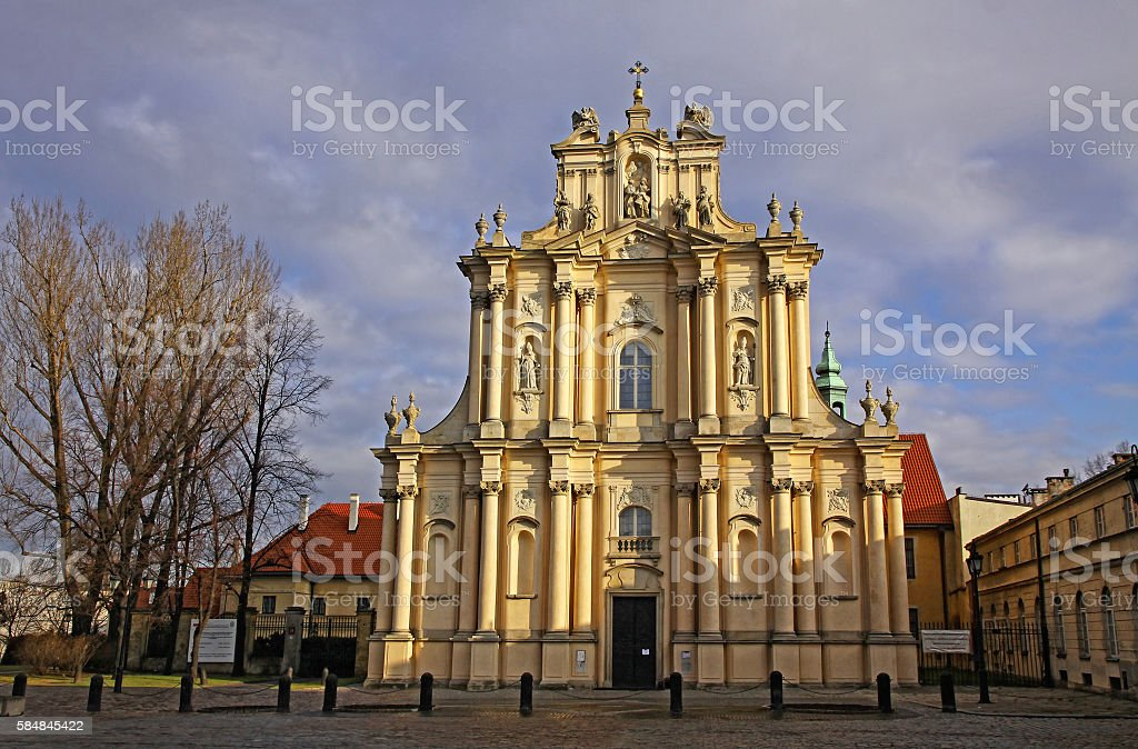 Church of St. Joseph of the Visitationists in Warsaw stock photo