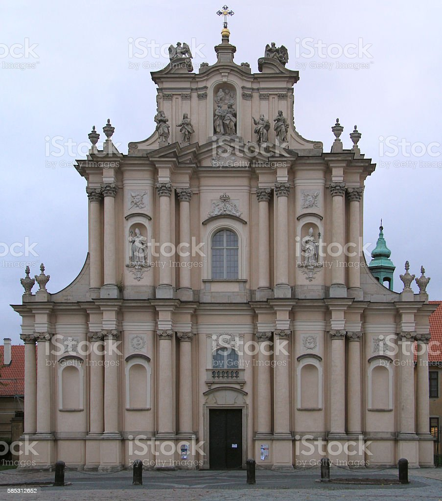 Church of St Joseph the Guardian in Warsaw stock photo