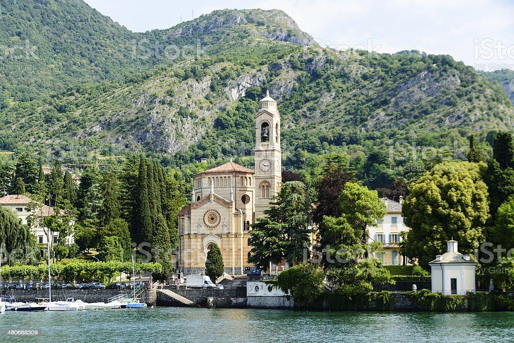 Church of St. Lorenzo, Tremezzo, Italy -XXXL stock photo
