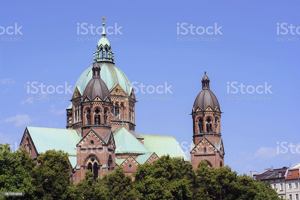 Church of St. Luke in Munich, Germany royalty-free stock photo