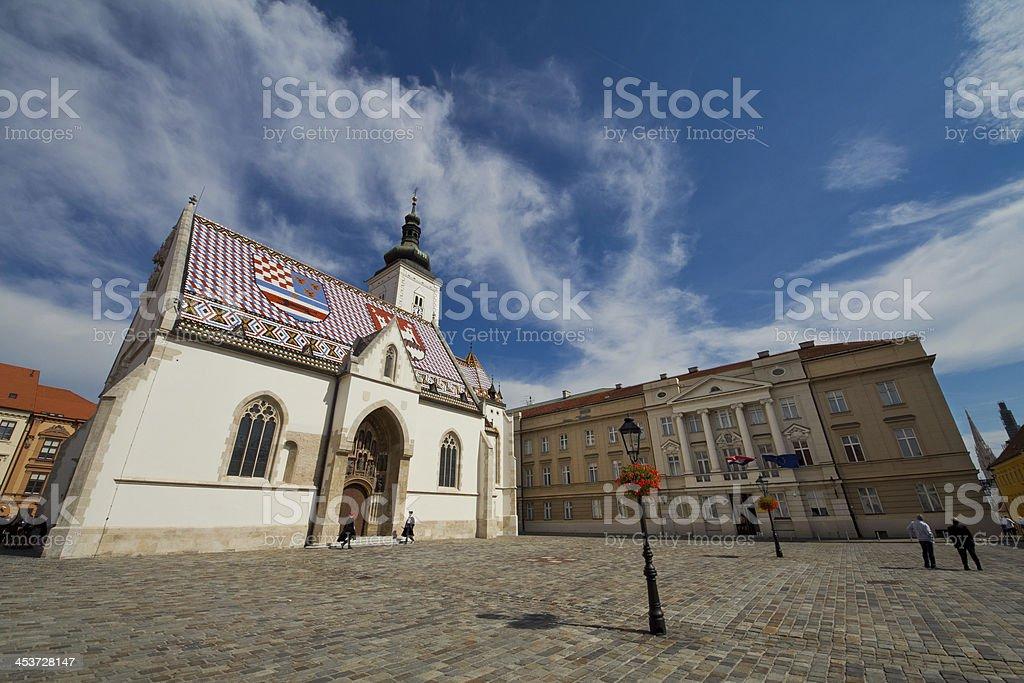 Church of St. Mark in Zagreb, Croatia royalty-free stock photo