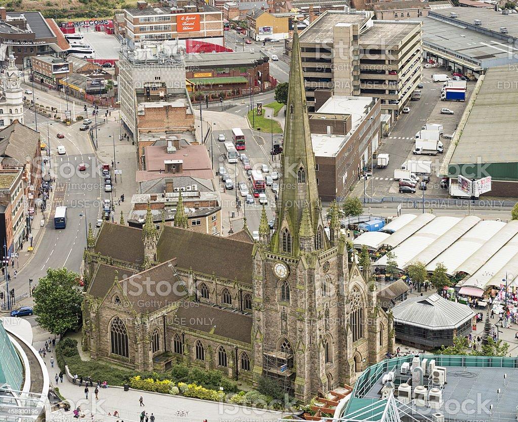 Church of St Martin, in Birmingham's Bullring stock photo