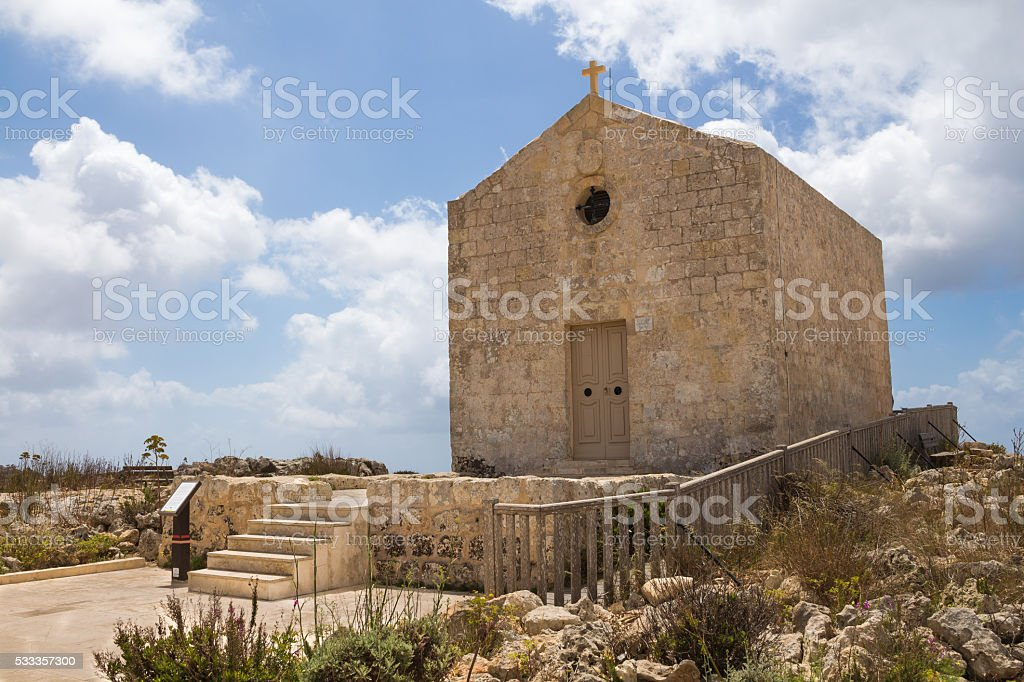Church of St Mary Magdalen, Malta stock photo