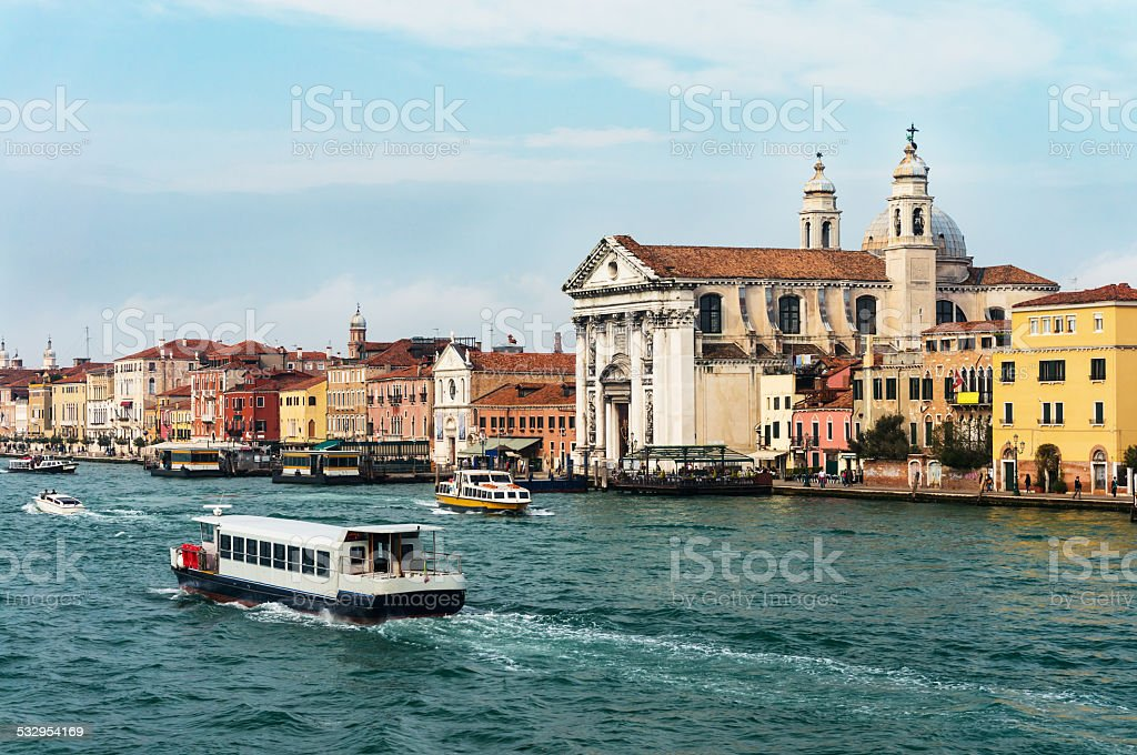 Church of St Mary of The Rosary in Venice stock photo