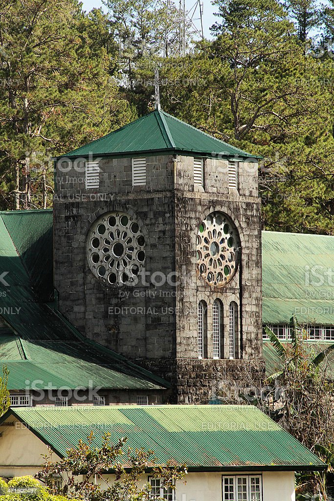 Church of St. Mary the Virgin in Sagada royalty-free stock photo