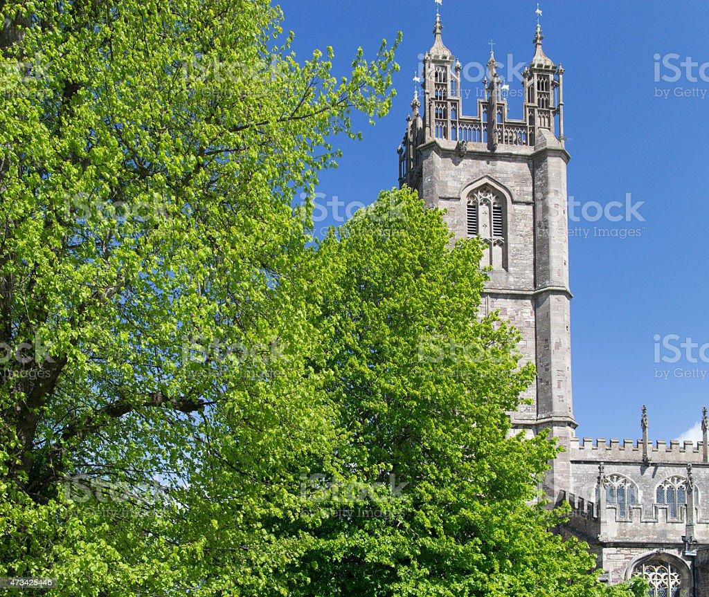 Church of St Mary the Virgin in Thornbury stock photo