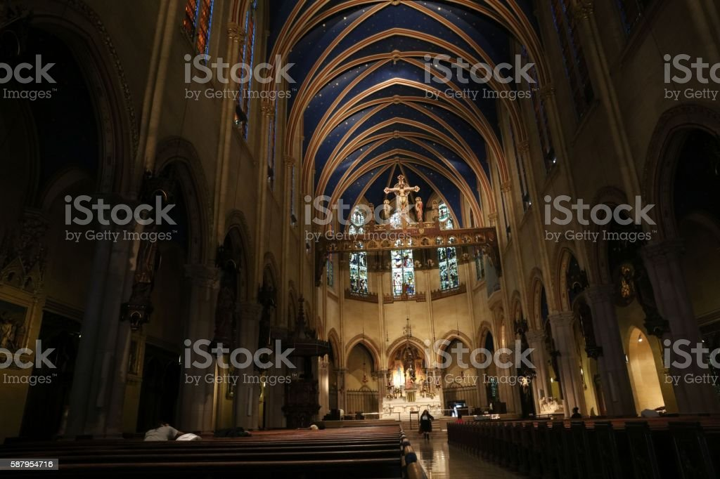 Church of St. Mary the Virgin (Manhattan) stock photo
