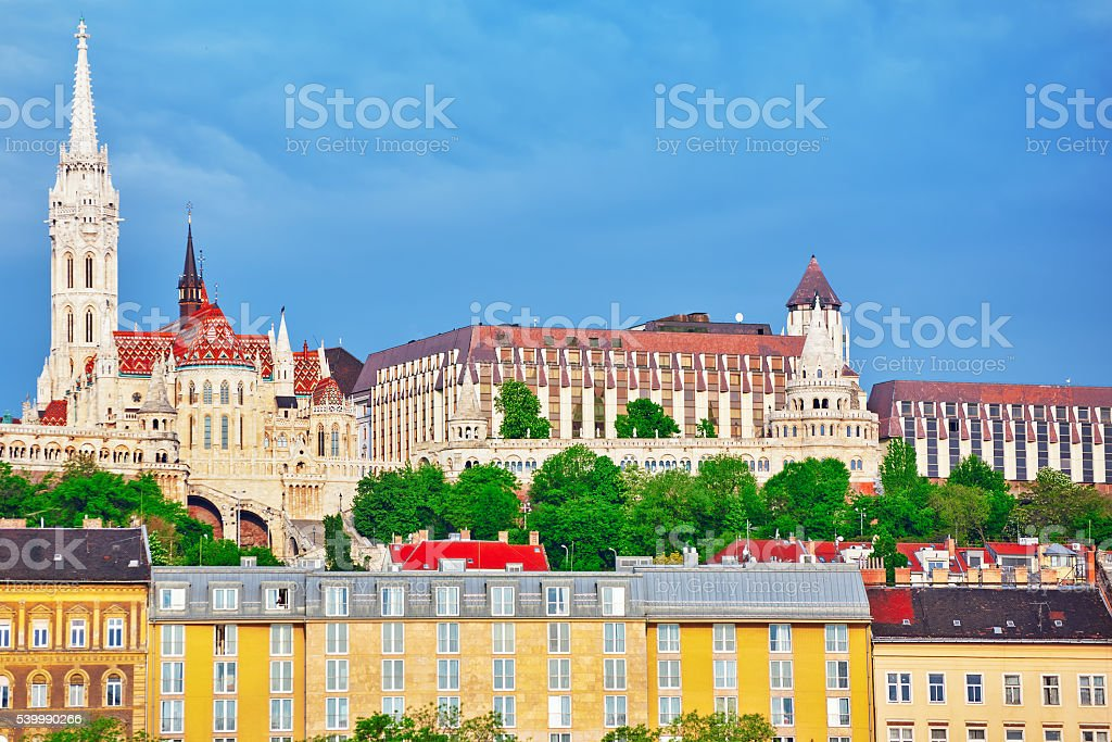 Church of St. Matthias and Fisherman's Bastion. stock photo