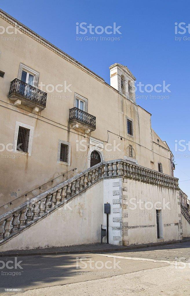 Church of St. Niccolo. Monte Sant'Angelo. Puglia. Italy. royalty-free stock photo